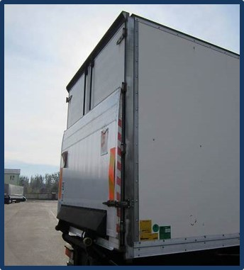 A truck with tail lift