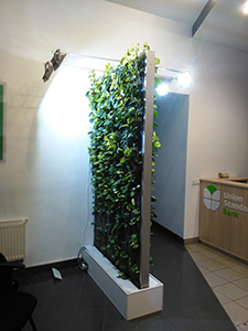 Moving of living wall