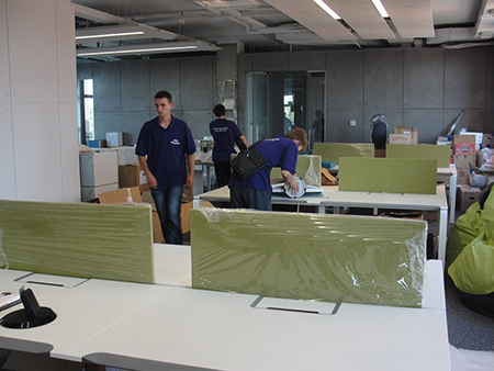 installation of furniture in the office
